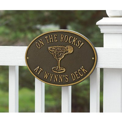 Margartia on the Rocks Personalized Wall Plaque