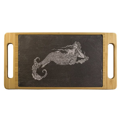 Marina the Mermaid Slate and Bamboo Serving Tray