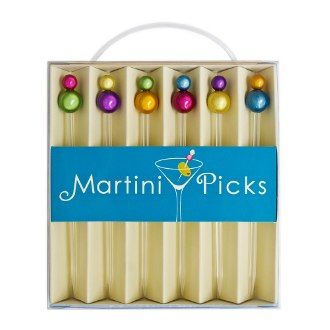 Martini Picks, Round Bead Top