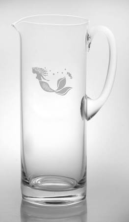 Rolf Glass Mermaid Pitcher