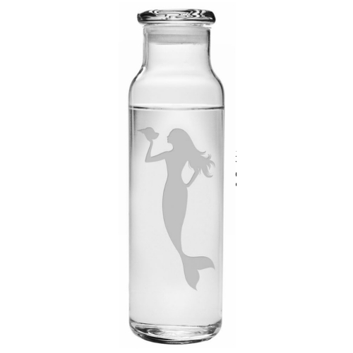 Mermaid Water Bottle with Lid