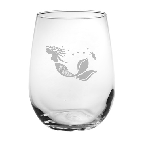 Mermaid Stemless Wine Glass (set of 4)