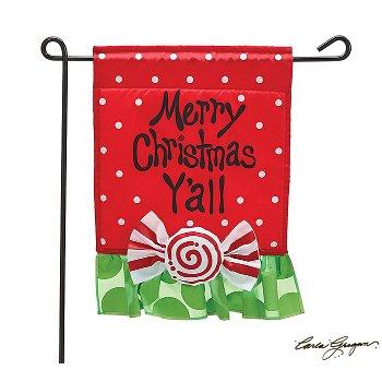 Merry Christmas Y'all Garden Flag