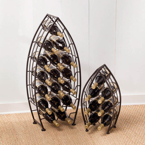 Metal Boat Bottle Racks (set of 2)