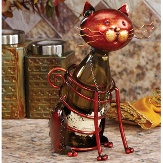 Cat Metal Wine Bottle Holder