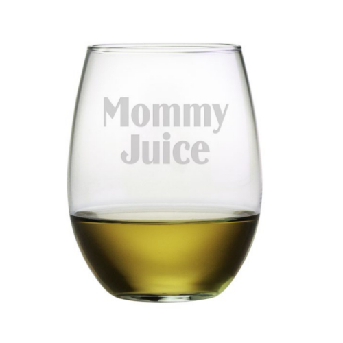 Mommy Juice Stemless Wine Glasses (set of 4)