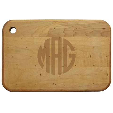 Monogrammed Artisan Wood Board
