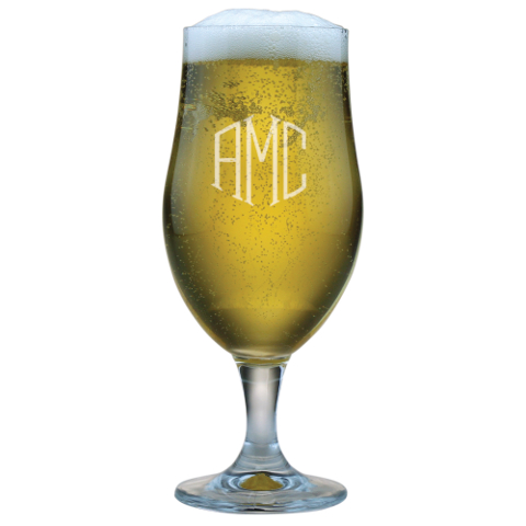 Monogrammed Munique Beer Chalices (set of 4)