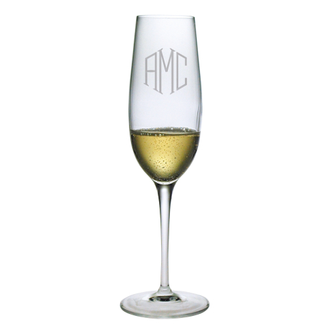Elegant Scroll Monogram Champagne Flutes (set of 4)