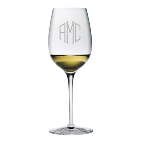 Monogrammed Chardonnay Glasses (set of 4)