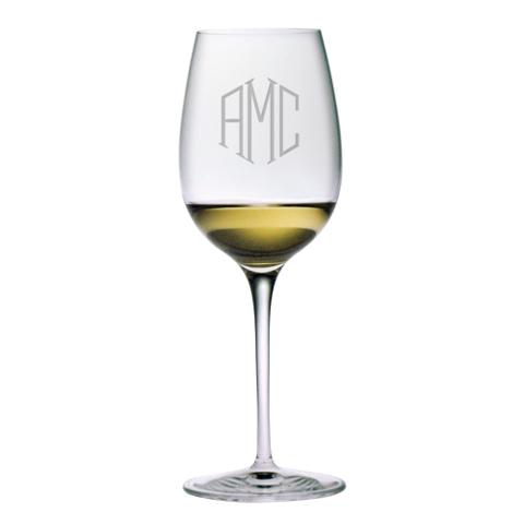 Monogrammed Chardonnay Glasses (set of 4)