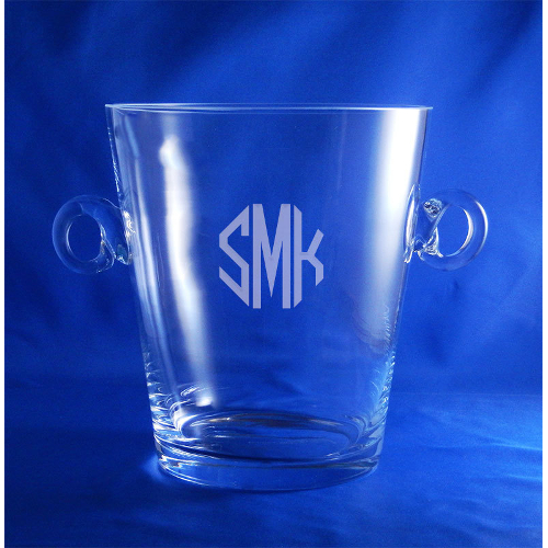 Monogrammed Crystal Ice Bucket