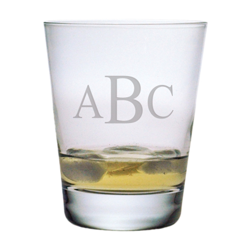 Monogrammed DOF Cocktail Glasses (set of 4)