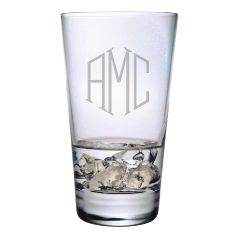 Monogrammed Highball Glasses (set of 4)