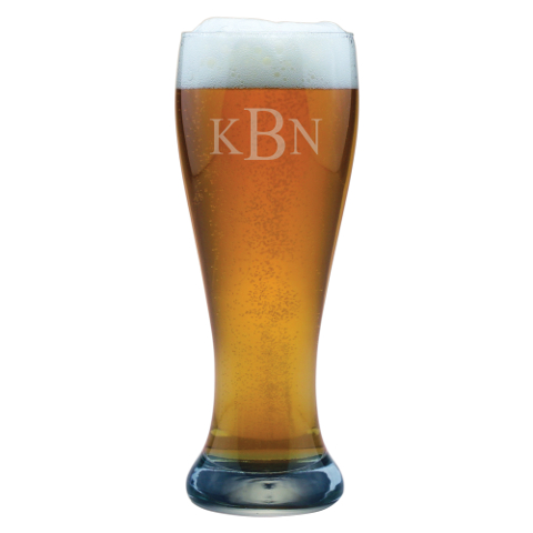 Monogrammed Wheat Beer Glasses (set of 4)