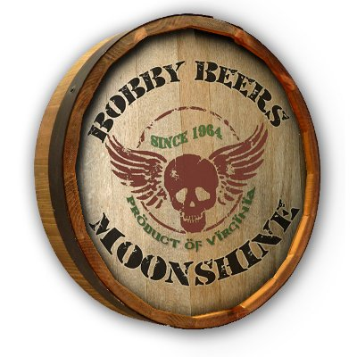 Personalized Quarter Barrel Skull Decor
