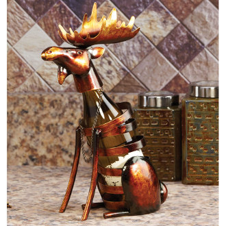 Moose Metal Wine Bottle Holder