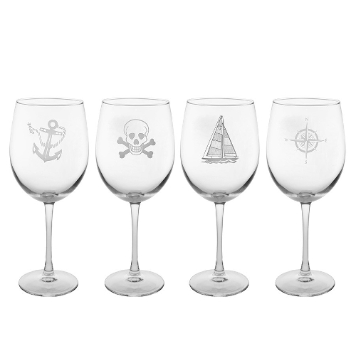 Mutiny Assorted All Purpose Stemmed Wine Glasses