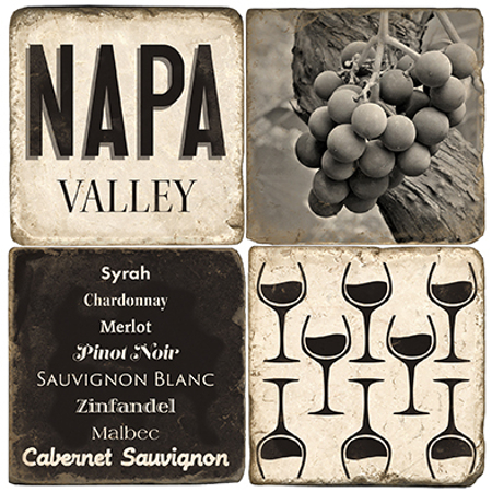 Napa Valley Marble Coasters (set of 4)