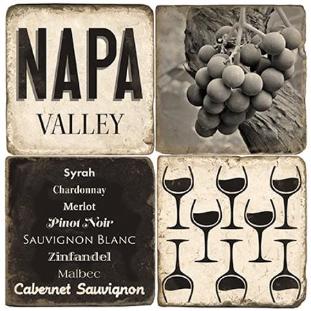 Napa Valley Marble Coasters (set of 4)
