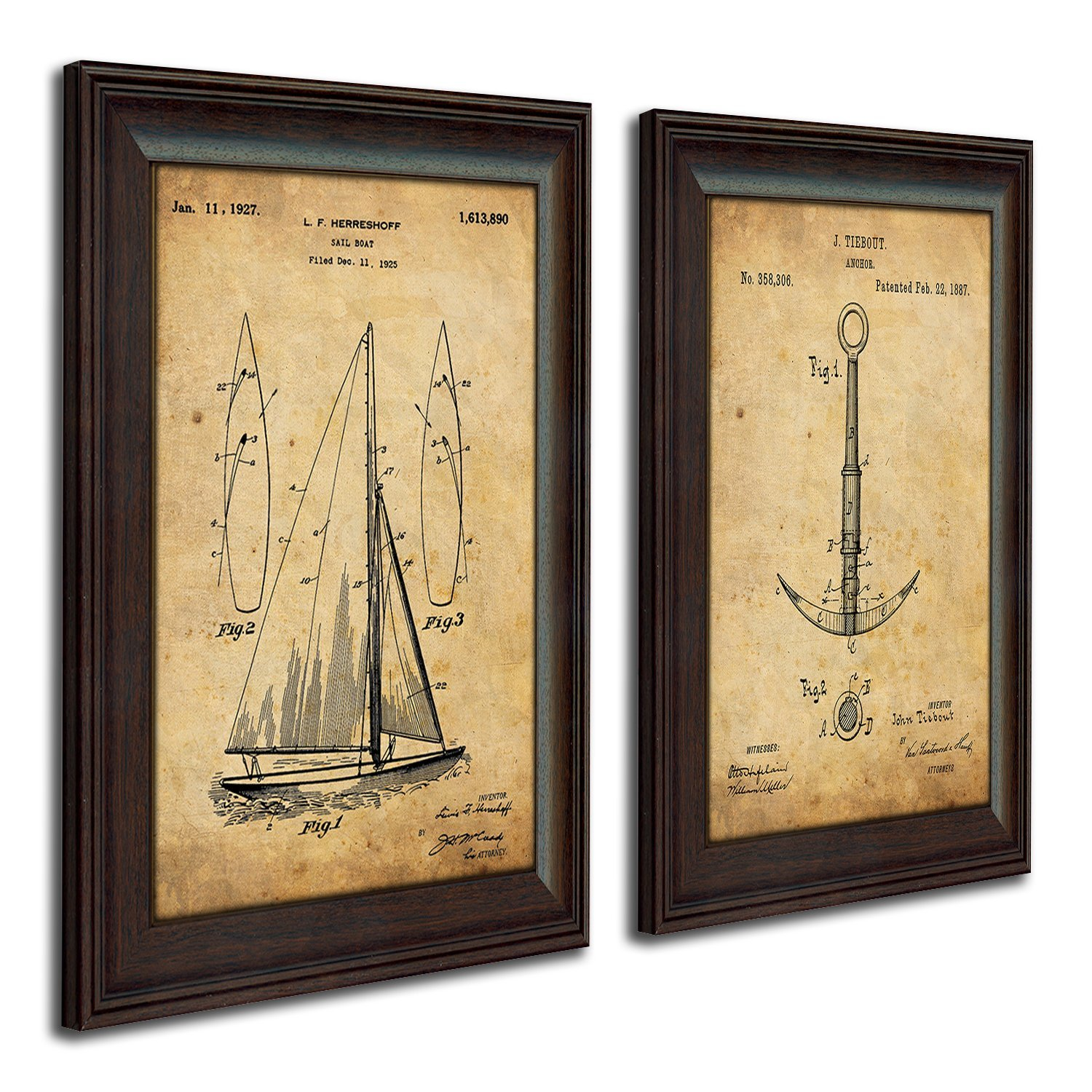 Coastal Patent Art 2 Piece Set