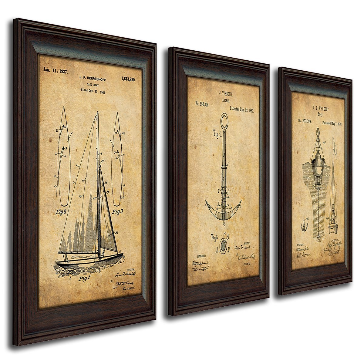 Coastal Patent Art 3 Piece Set
