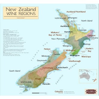 New Zealand Wine Regions Map