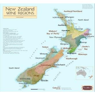 New Zealand Wine Regions Map