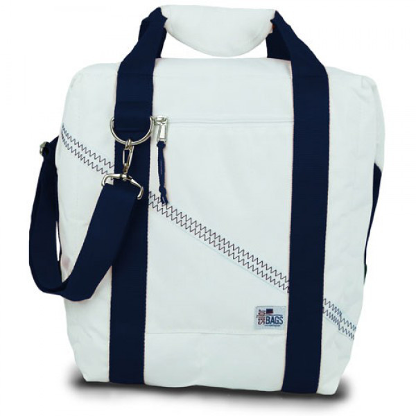 Newport 12-Pack Beer Cooler Bag with Blue Straps