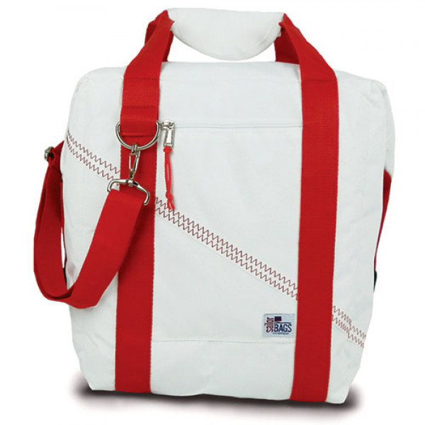 Newport 12-Pack Beer Cooler Bag with Red Straps