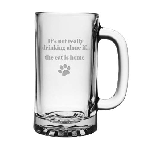 It's Not Really Drinking Alone Cat Pub Mugs (set of 4)