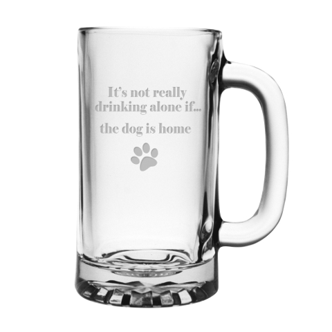 It's Not Really Drinking Alone Dog Pub Mugs (set of 4)