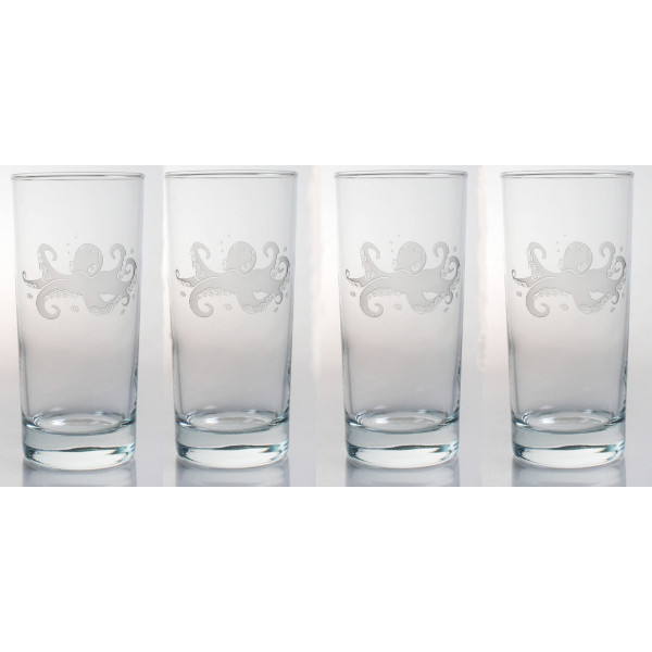 Octopus Cooler Glasses (Set of 4)