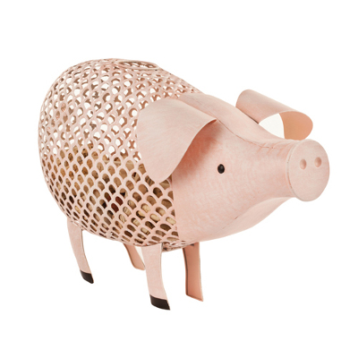 Pig Metal Cork Holder by Country Cottage