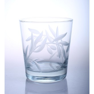 Olive Branch On The Rocks Glasses (set of 4)