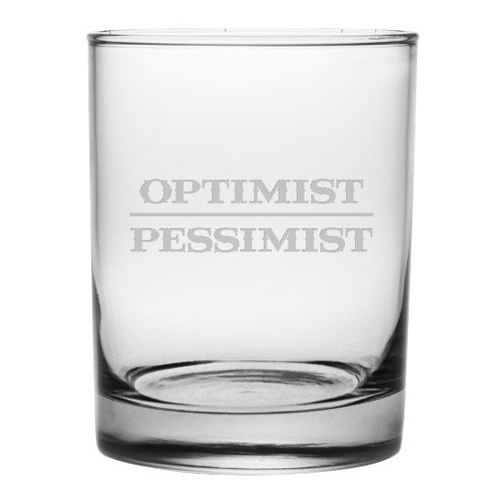 Optimist Pessimist DOR Glasses (set of 4)