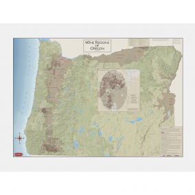 Wine Regions of Oregon Wine Map, Second Edition