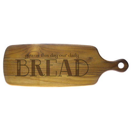 Our Daily Bread Teak Cutting Board
