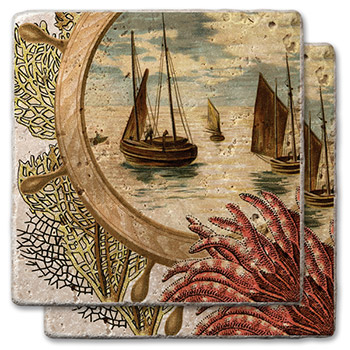 Out To Sea Stone Coasters