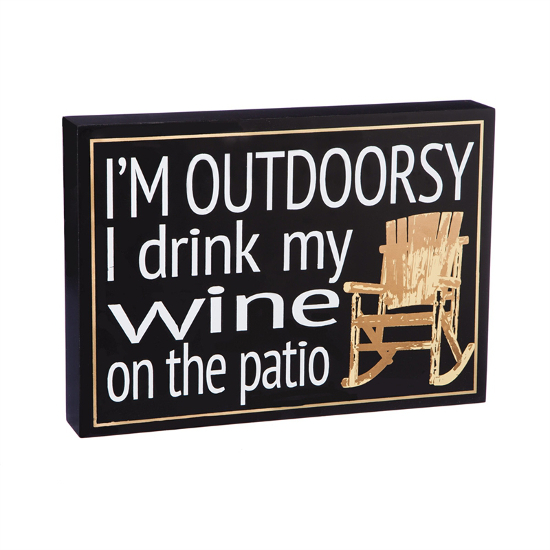 I'm Outdoorsy Wooden Plock