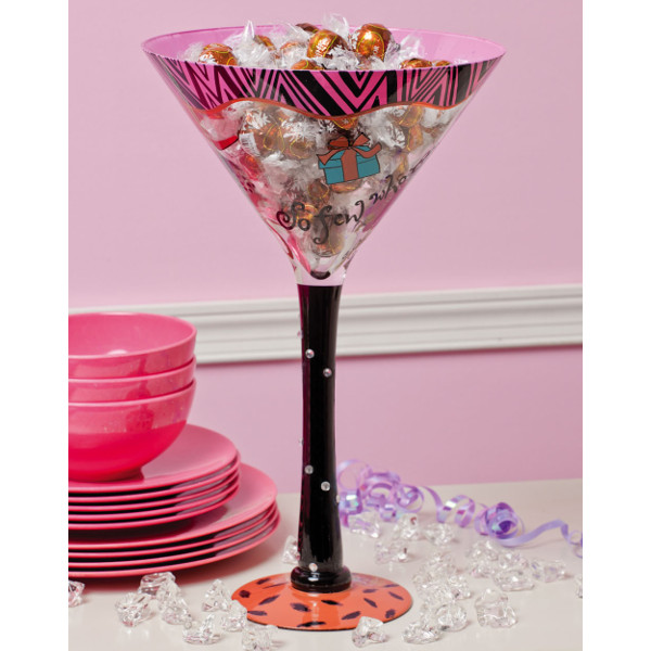 Hand Painted Oversized Martini Glass