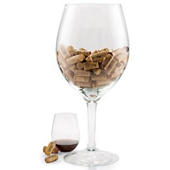Oversized Wine Glass Cork Holder