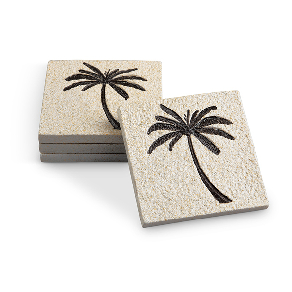 Palm Tree Coasters (Set of 4)