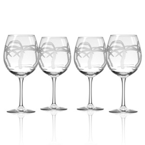Palm Tree Balloon Wine Glasses (set of 4)