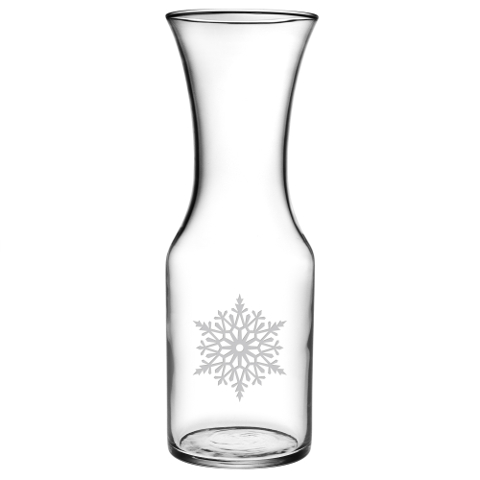 Paper Snowflakes Wine Carafe