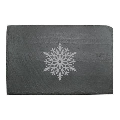 Paper Snowflakes Slate Cheese Server