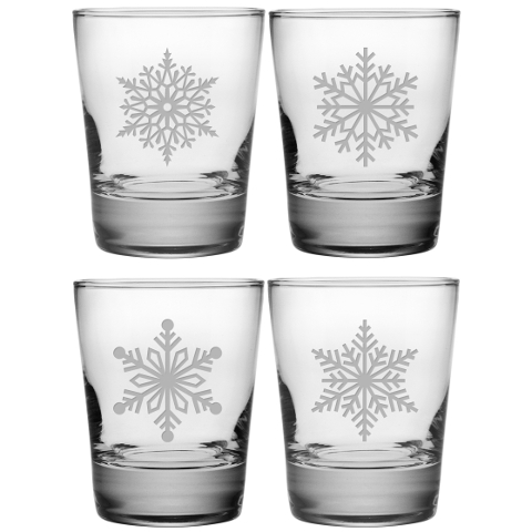 Paper Snowflakes DOF Glasses (set of 4)