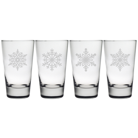 Paper Snowflakes Highball Glasses (set of 4)