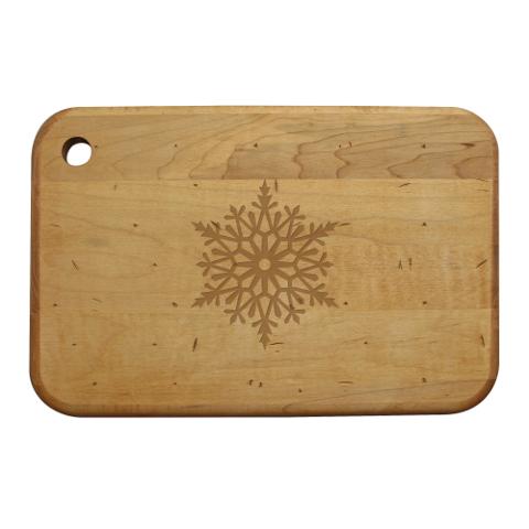 Paper Snowflakes Artisan Wood Board