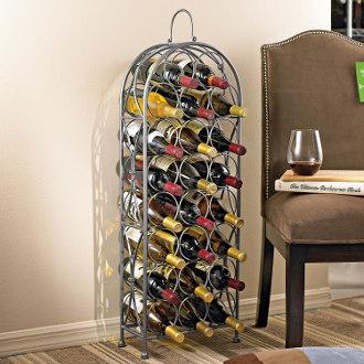 Parisian Wrought Iron Wine Rack